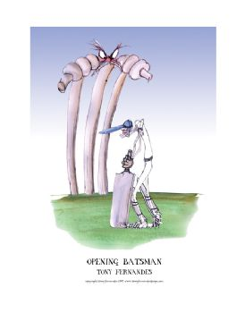 Opening Batsman - signed print